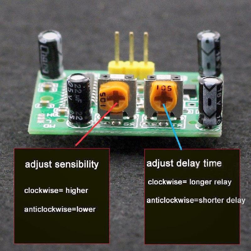 10//20//40 PCS HC-SR501 Pir Pyroelectric Infrared Sensor Body Motion Sensor Module