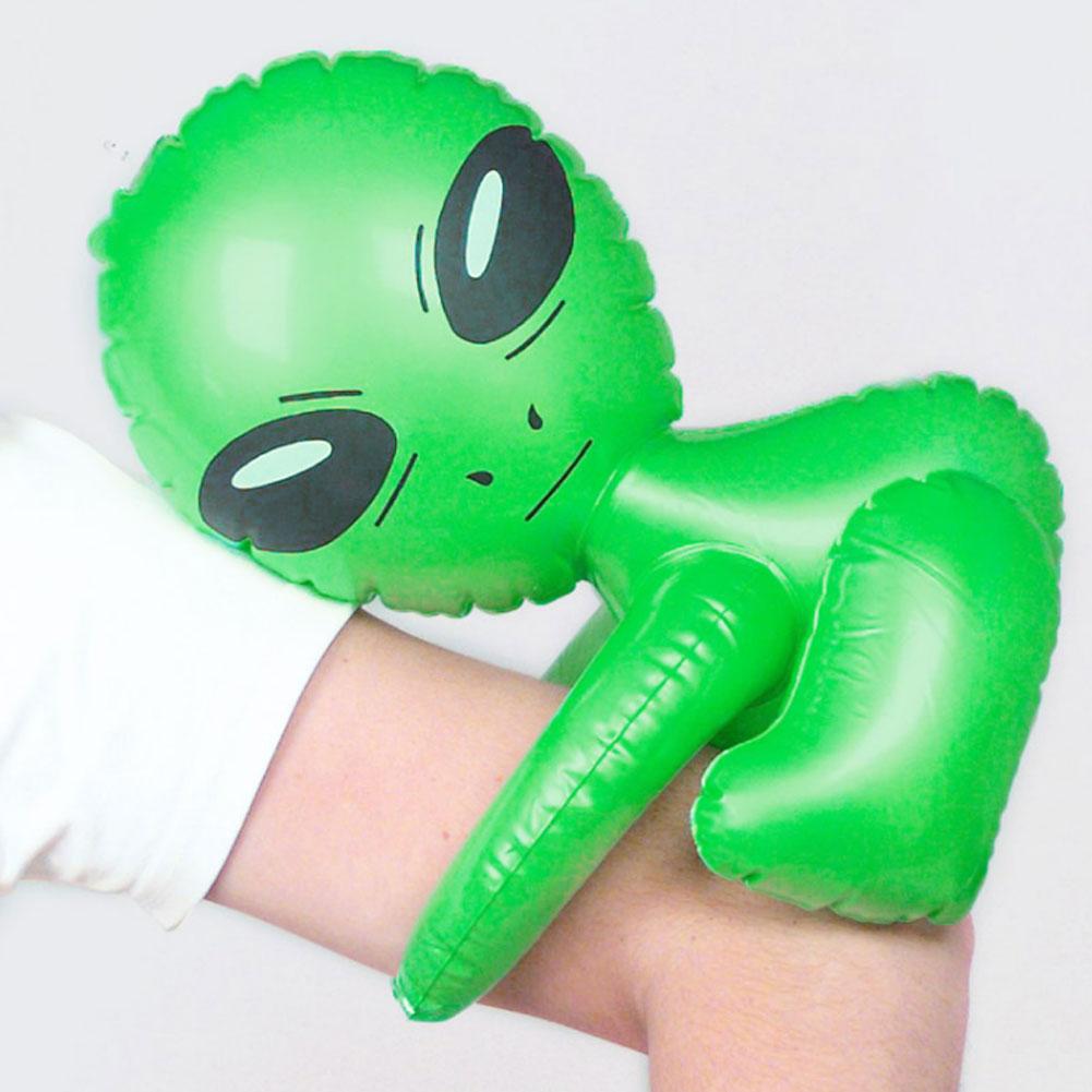 3 Stück Aufblasbarer Alien aufblasbares Gespenst Ausserirdischer Karneval Silber