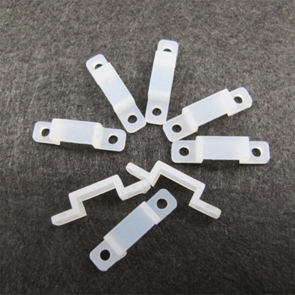 50pcs 10mm Silicone Mounting Bracket Clip Fastener Strip LED Light For Fix L7L6