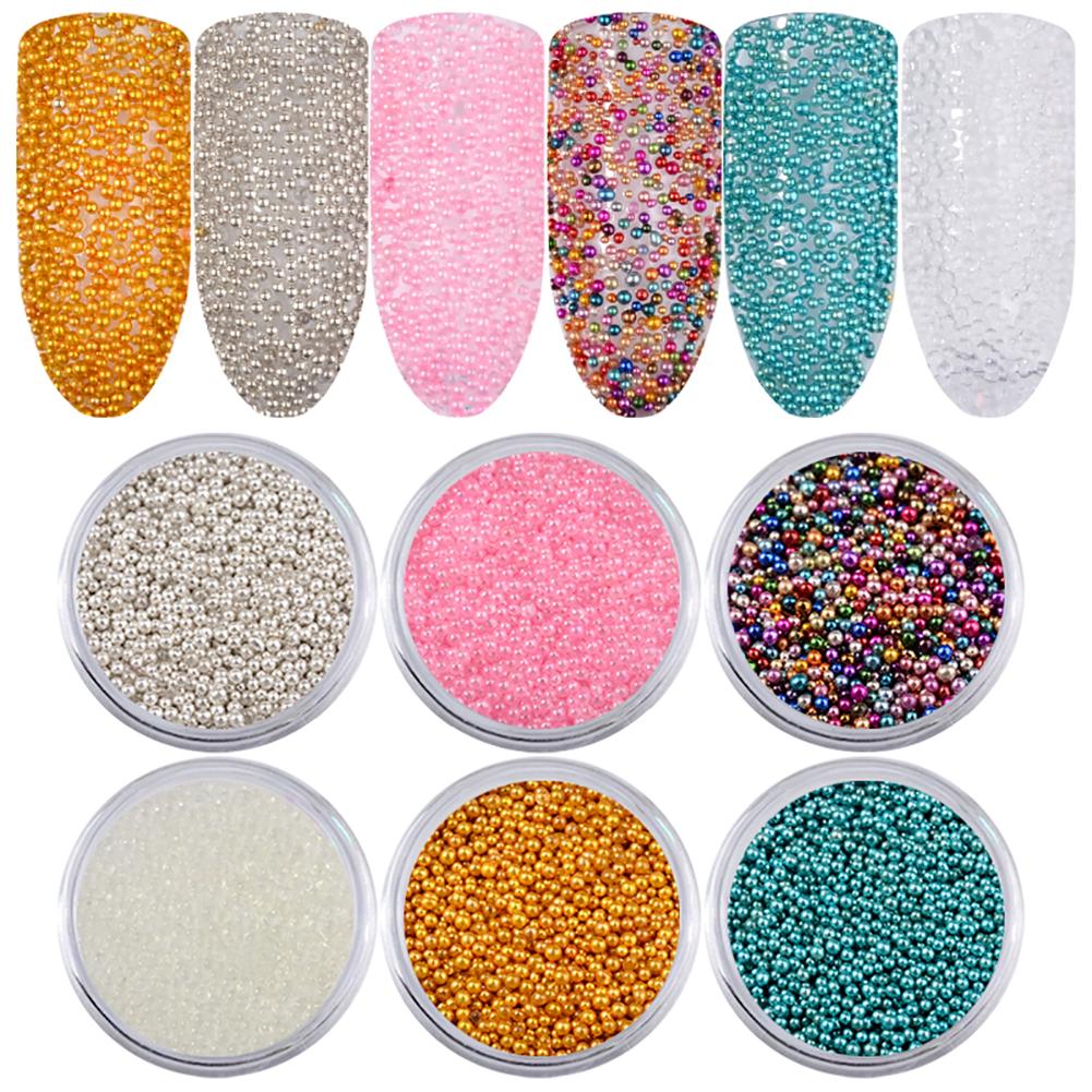 6 Box/Set Caviar Nail Art Beads Manicures Mini Balls DIY Makeup ...