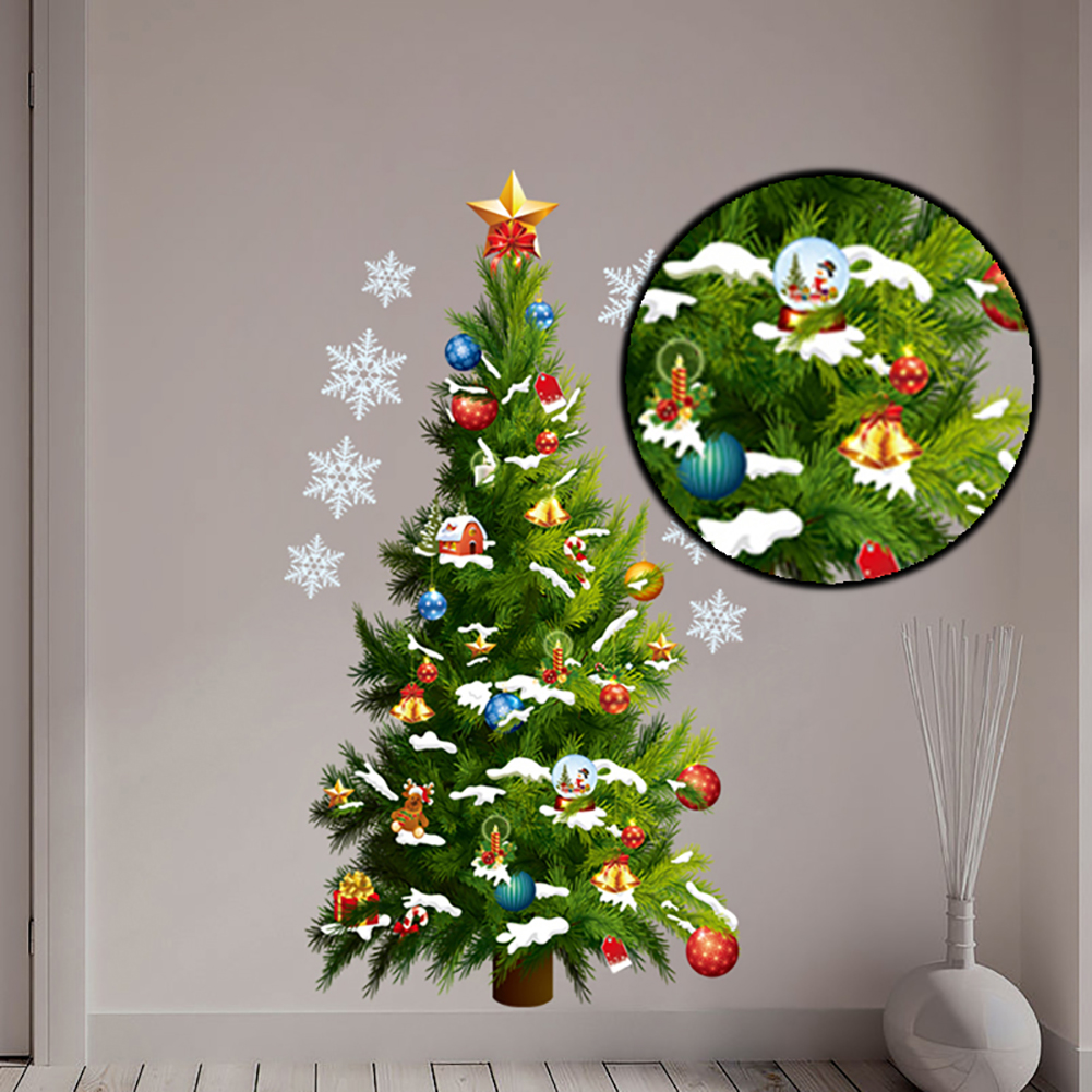 Large Christmas Tree: Large Christmas Art Wall Sticker Removable Decal Home