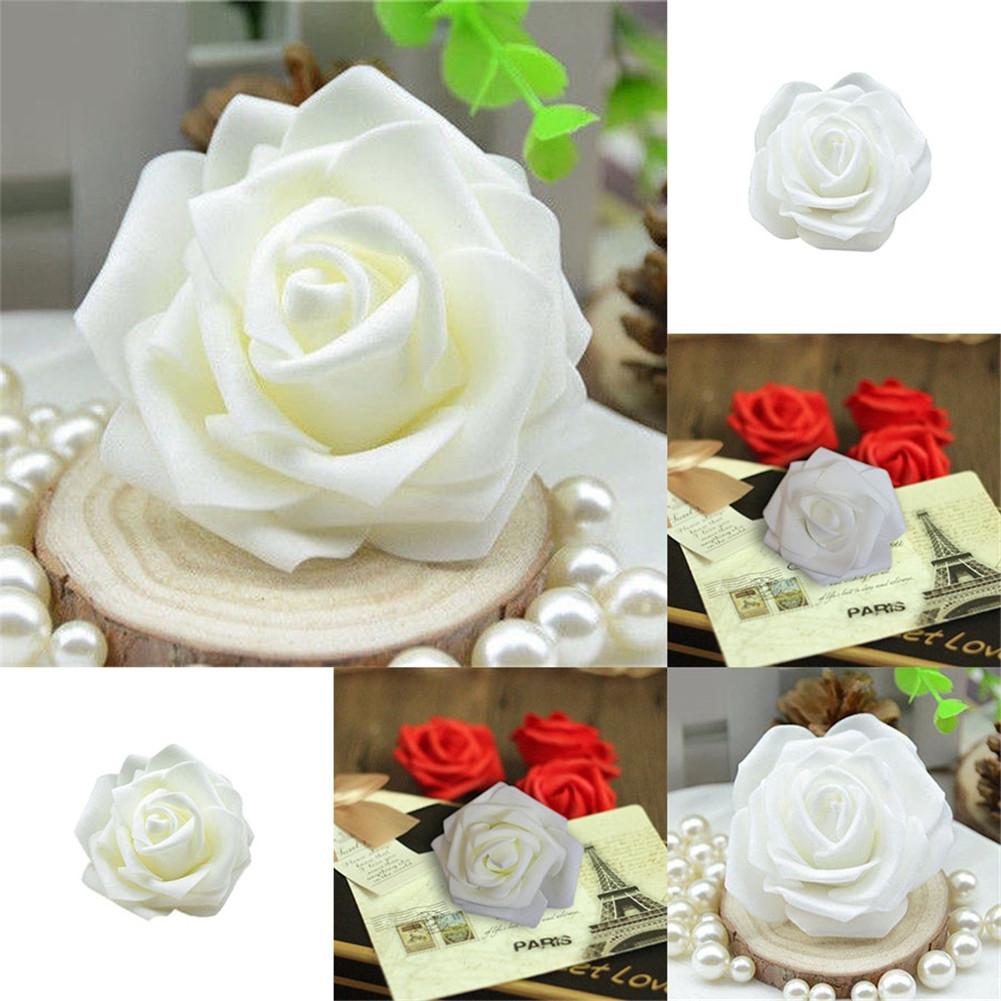 50x handgemachte k nstliche rosen fake schaum blumen k pfe hochzeit party dekor ebay. Black Bedroom Furniture Sets. Home Design Ideas