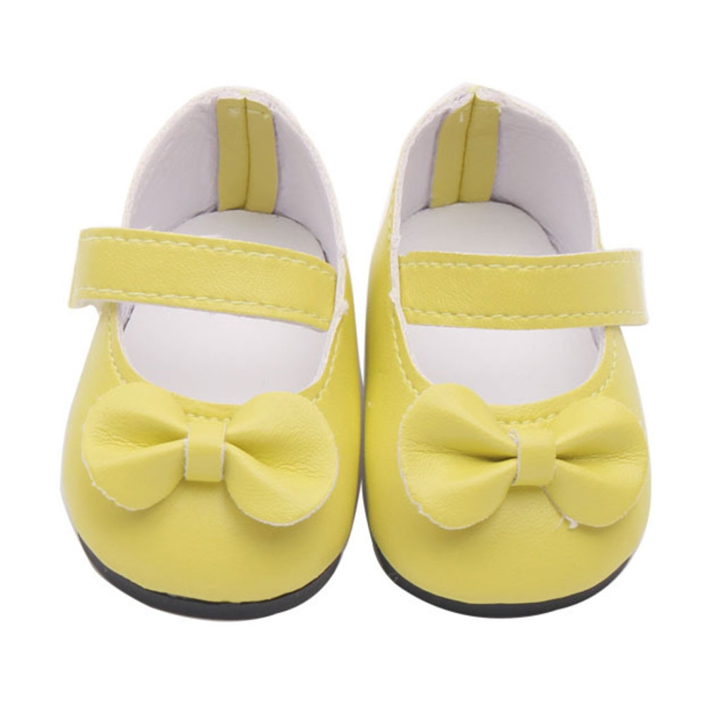 Yellow Strap Shoes Flats Sneakers for 43cm/17inch Zapf Baby BornClothes' 2vUdIq