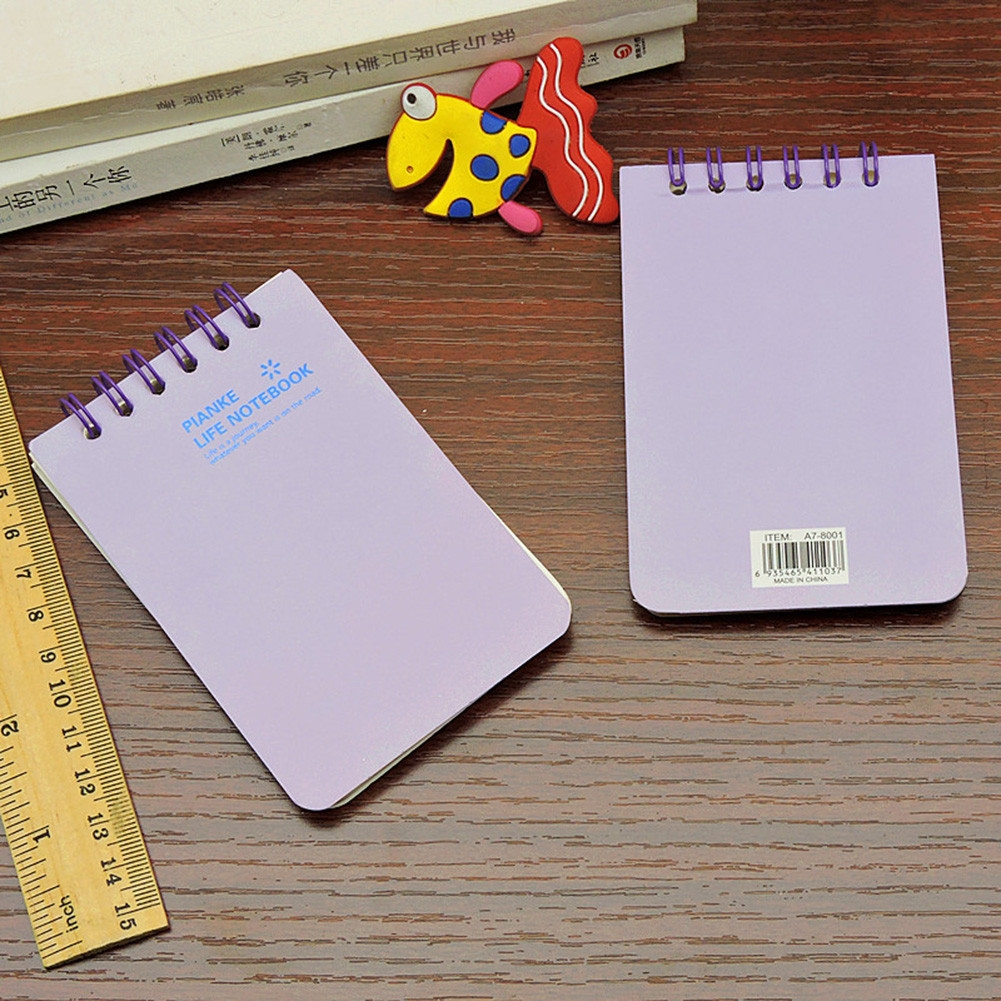 MINI NOTE BOOK SPIRAL BOUND WRITING NOTEPAD SMALL PAD RADOM GIFTS Gift K2X3