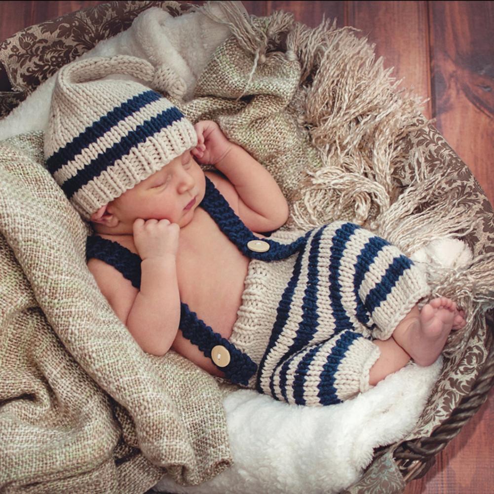 Fotoshooting Baby Blau Fotografie Strick Mütze Kostüm-Häkelkostüm geborenen