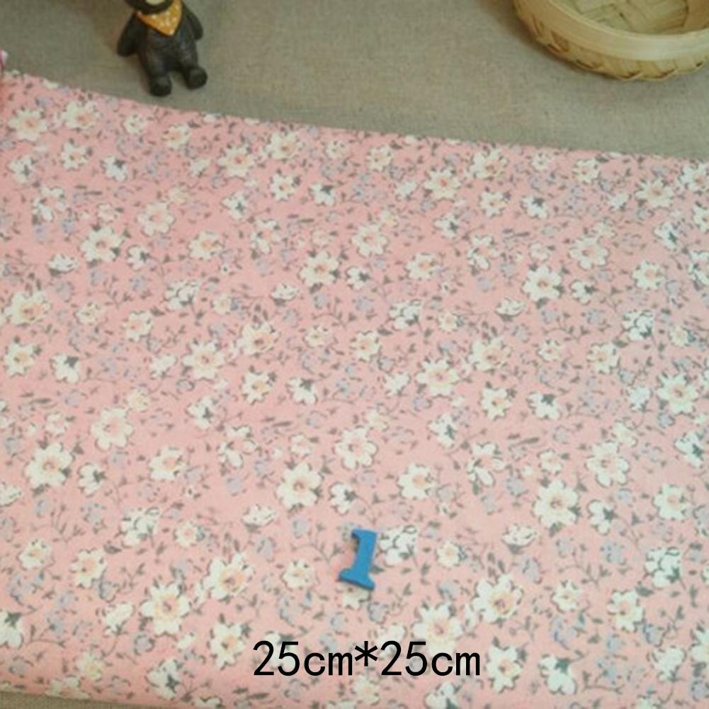 7X// 50x50cm DIY Nähen Baumwolle Stoffpaket Stoffreste.PatchworkHeiß/&