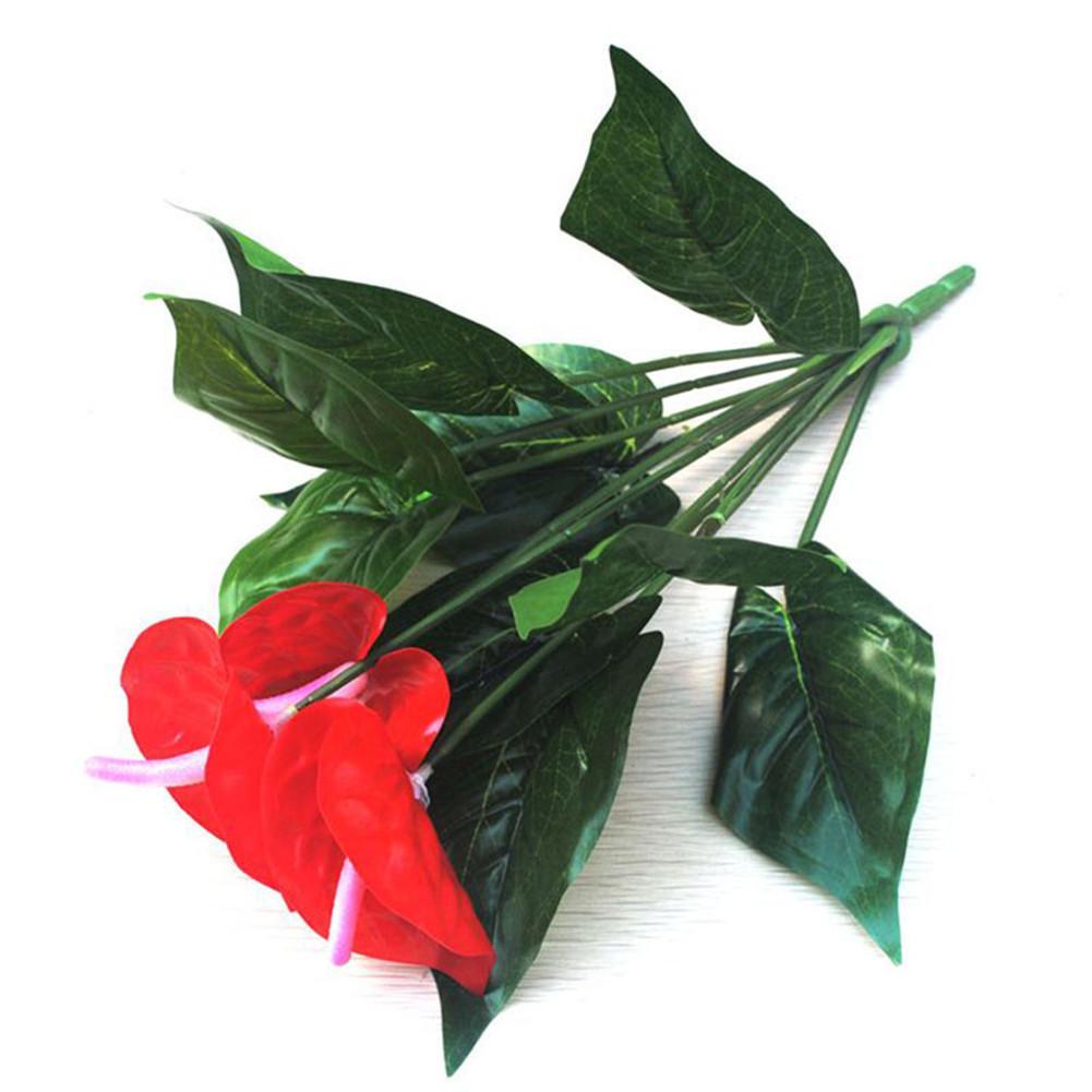 Heiße Künstliche Falsche Anthurium Strauß Blume Hochzeitsfeier Florale Dekor !