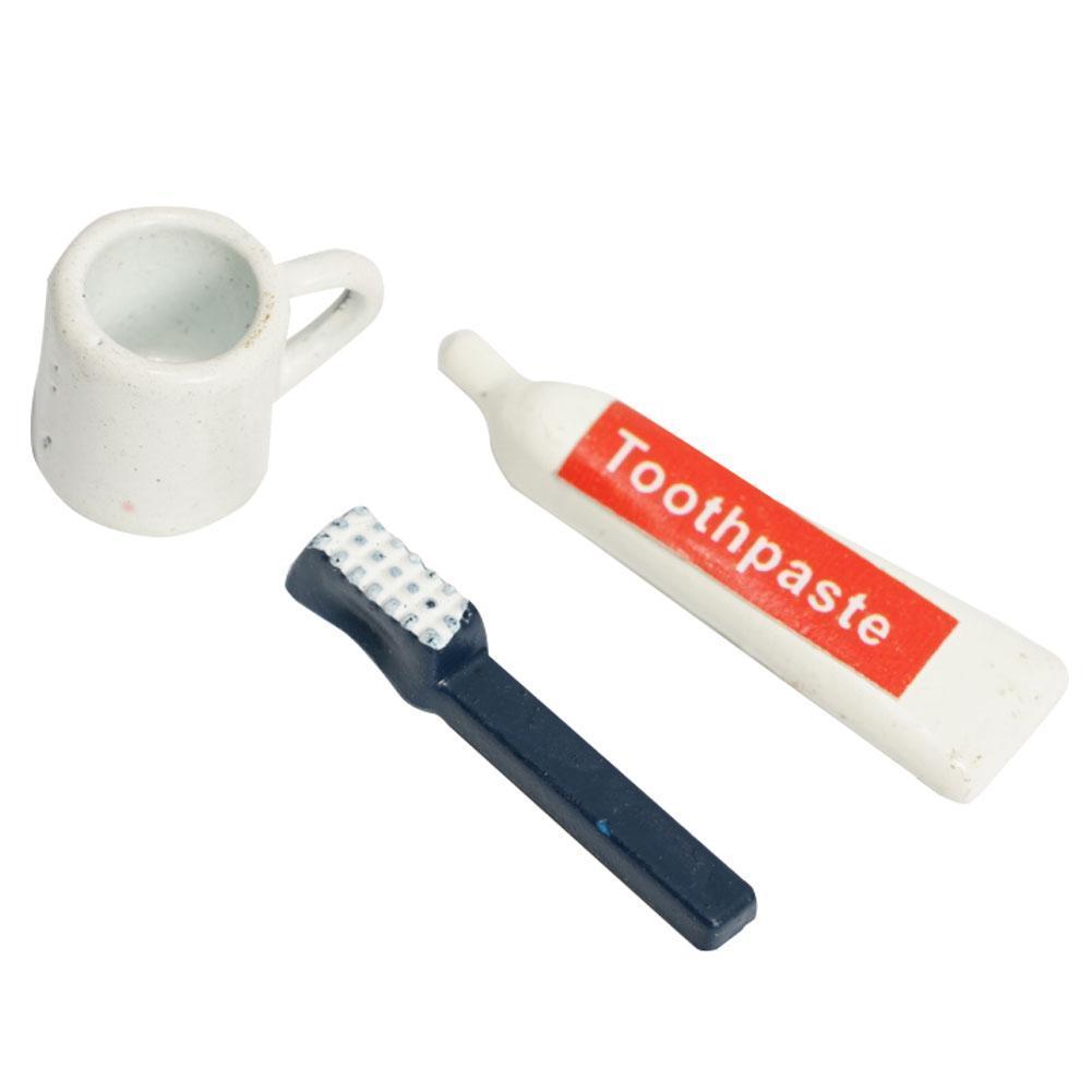 Puppenhaus Miniatur 1:12 Badezimmer Zubehör Set Zahnbürste Zahnpasta Und Puppenstuben & -häuser