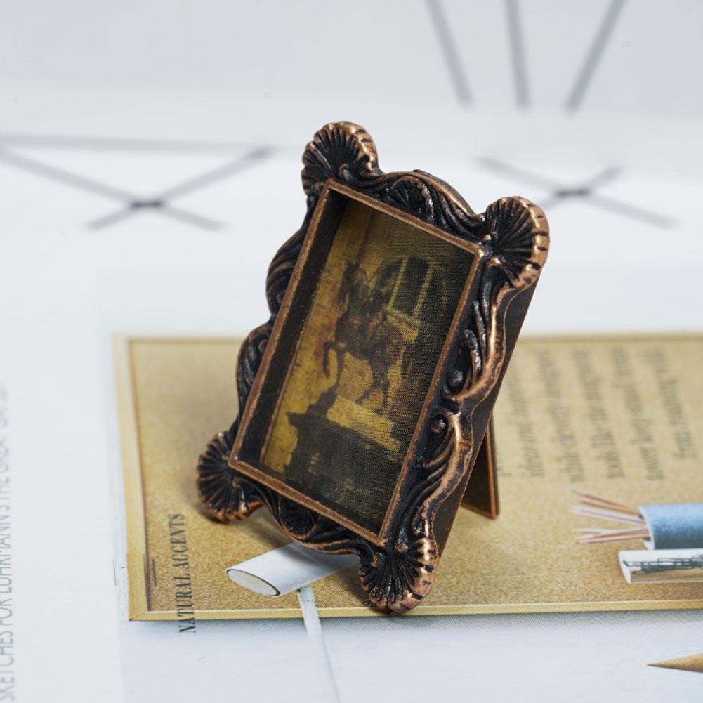 Mini Retro Photo Frame For 1:12 Miniature Dollhouse Price Low Bedroom Decor A4Q5