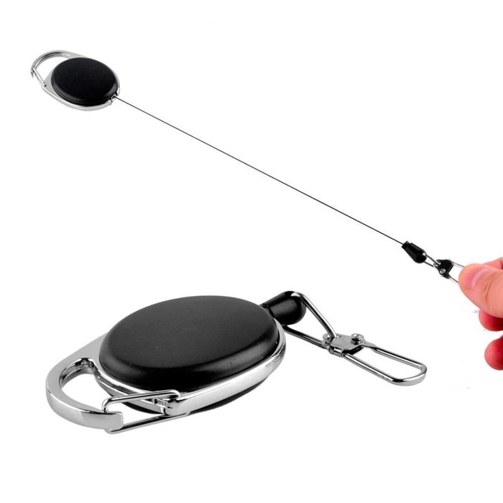 伸縮鑰匙扣 創意易拉扣 鑰匙環 防丟防盜鋼絲繩扣 戶外登山扣