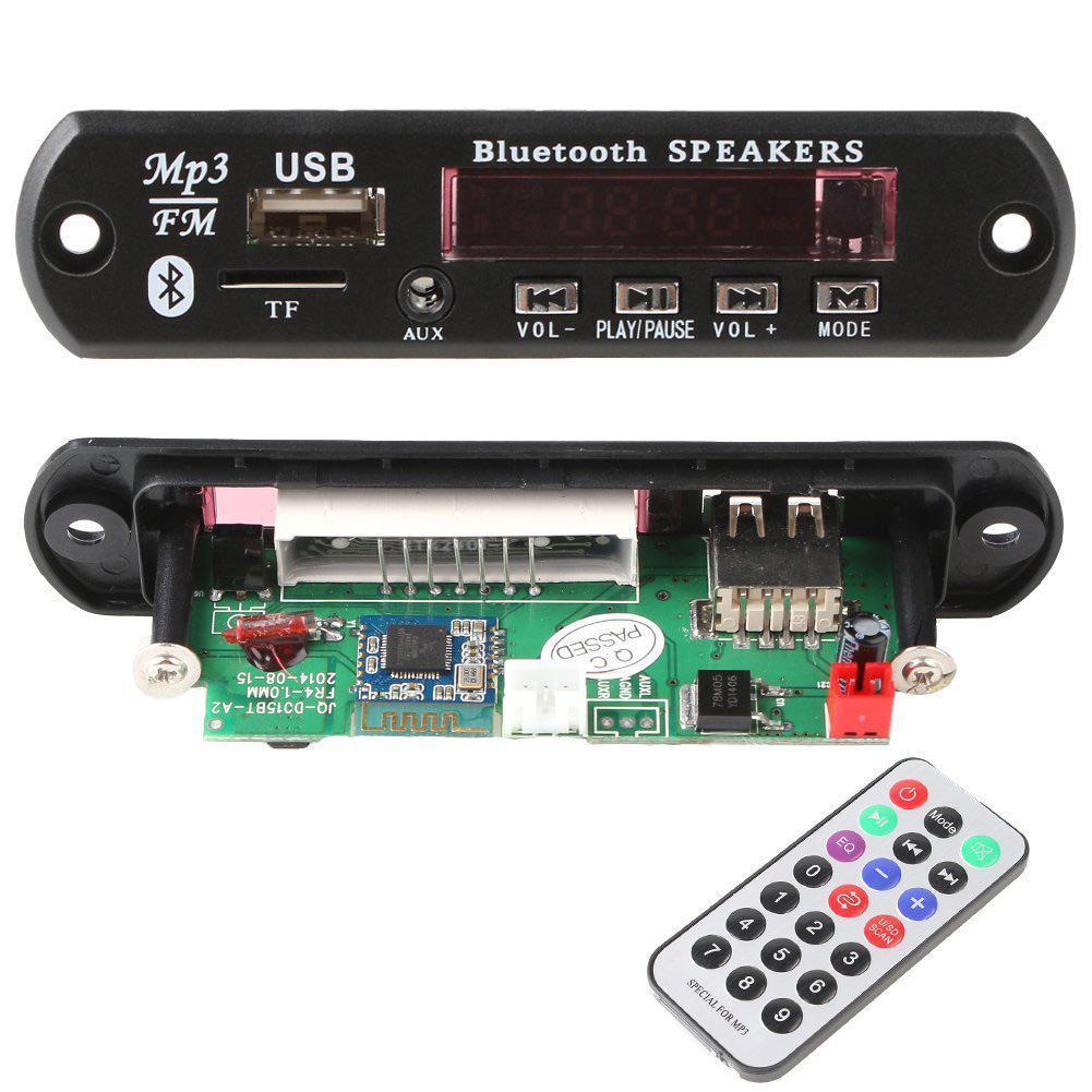New Fashion Usb Tf Radio Bluetooth Mp3 Wma Decoder Board 12v Fm Remote Control Circuit Using A Electronic Wireless Audio Module Shop Ezbuy Singapore