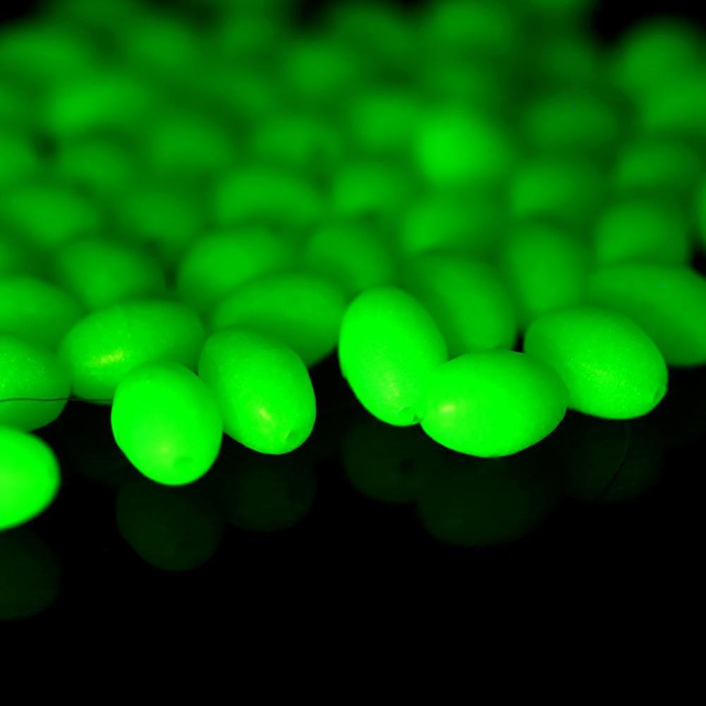 1000 Stk Kunststoff Runde Leucht Angeln Perlen Süßwasser Angeln Rigs Köder M2N6