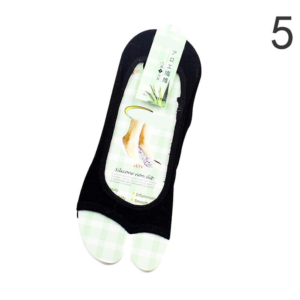Non Slip Half Toe Gym Sport Yoga Pilates Ankle Grip Socks 5 Toes Massage S Uskt