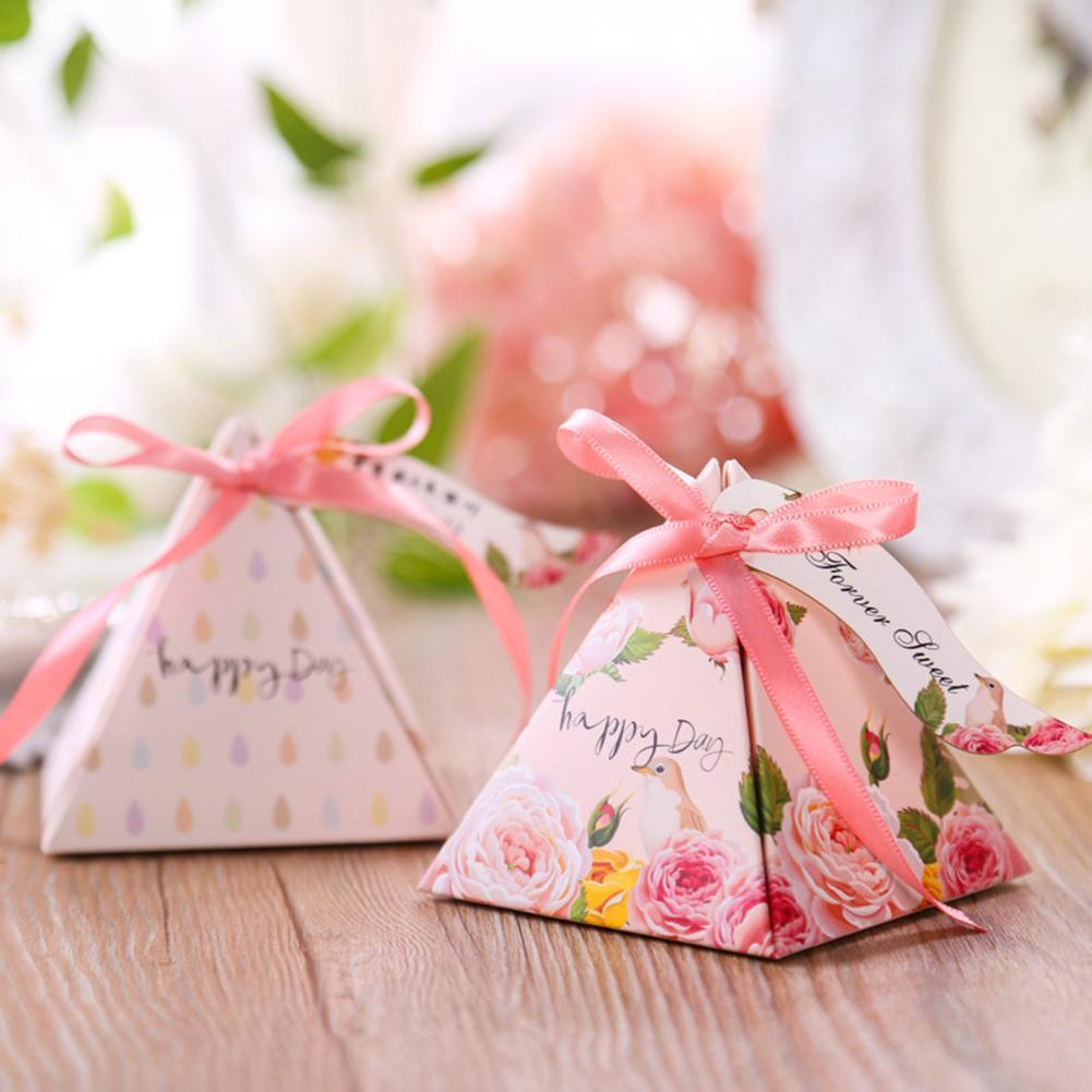 10PCS Spring Flower Paper Wedding Party Favour Sweet Boxes Bags ...