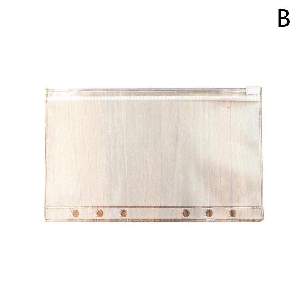 2Pcs A5 A6 A7 Binder Zipper File Pocket Refill Envelope Q0I7 Transparent Pl L0Z1
