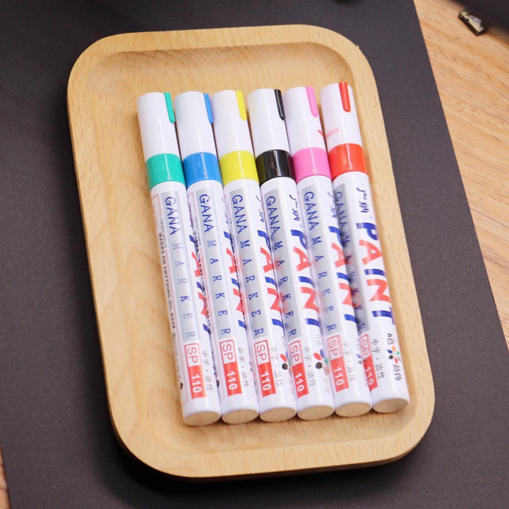 12 Farben Lackmalstift Kit Fine Paint Art Marker Pen Metall Wasserdicht DE~
