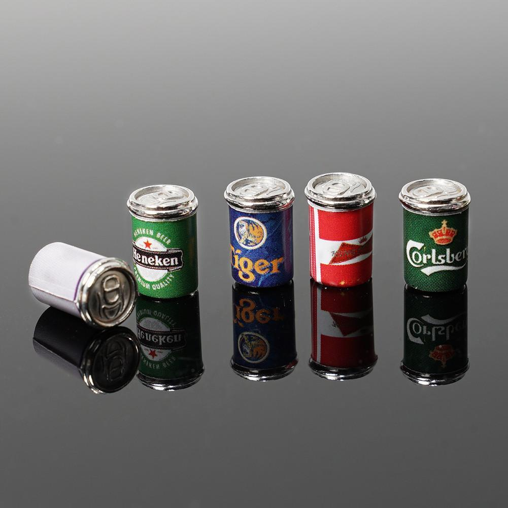Dollhouse Miniature Mini 5pcs Assorted Beer Cans Food /& Groceries Bar Beer 1:12
