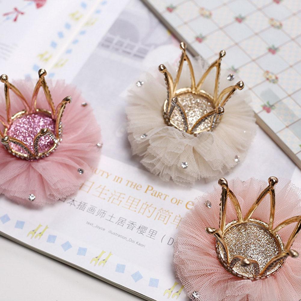 Baby Kinder Mädchen Spitze Clever Krone Prinzessin-Haarschmuck Haarspange Gift