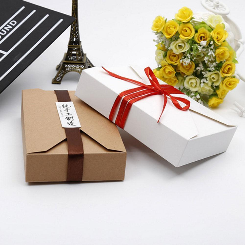 10PCS Kraft Paper Gift Boxes Candy Cake Cookies Packaging Party MoonCake BoxGift
