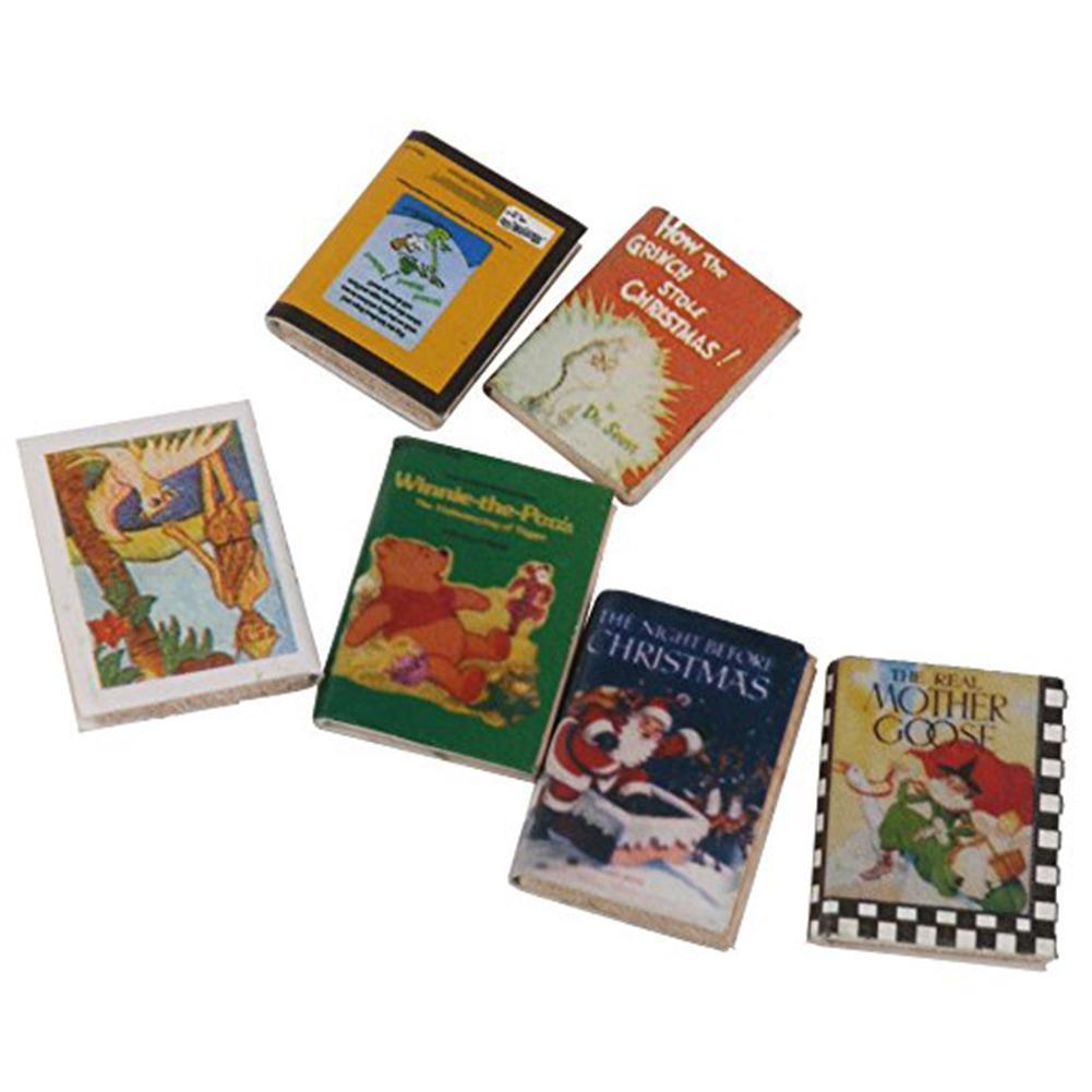 1:12 Doll house Scenes Study Accessories Fine Books 6 books Comic Books