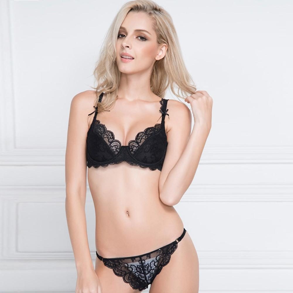 c4dcf861d87 Details about Women s Girl Sexy Lace Bra Panties Set Lingerie Push Up  Padded Bra Underw kapa