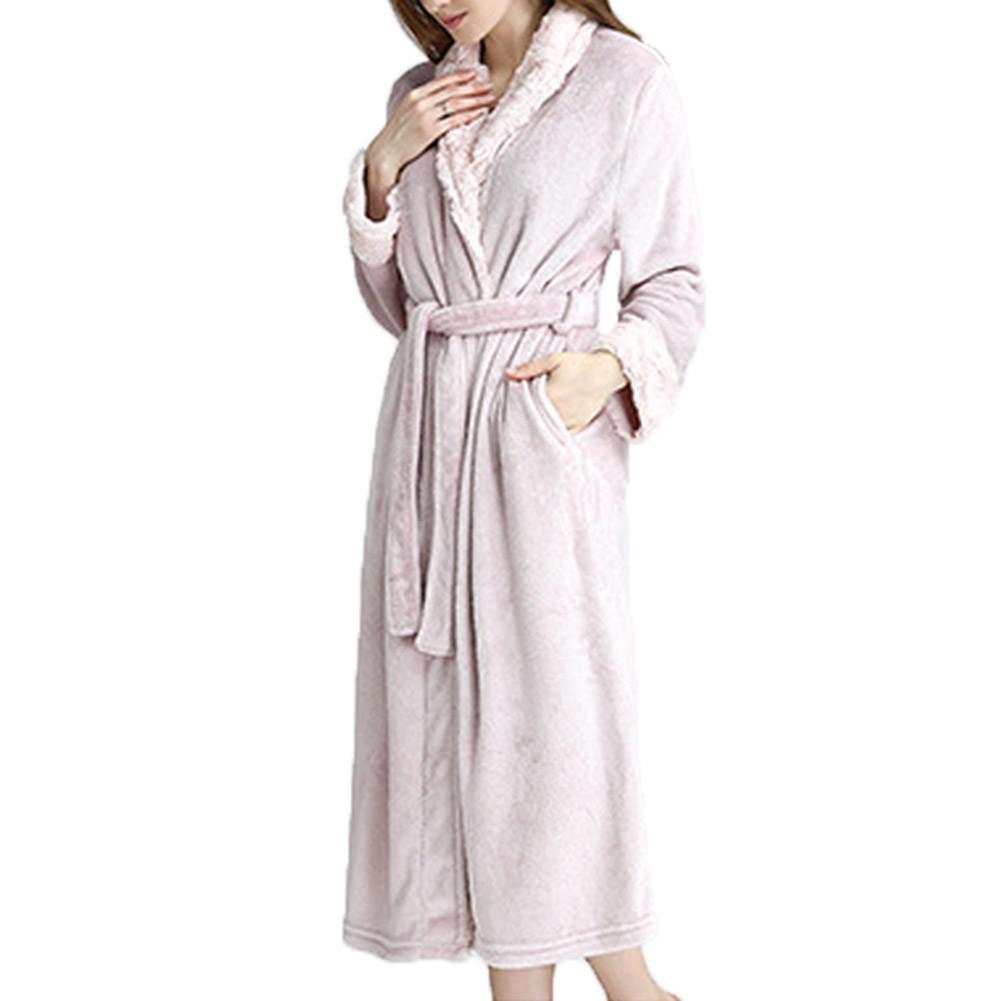 1eb645ec08 Hotel Spa Plush New Arrivals Bath Robe New Arrivals Nightgown Woman Long  Robe Winter Thick Warm Robes Coral Fleece Sleepwear Bathrobe