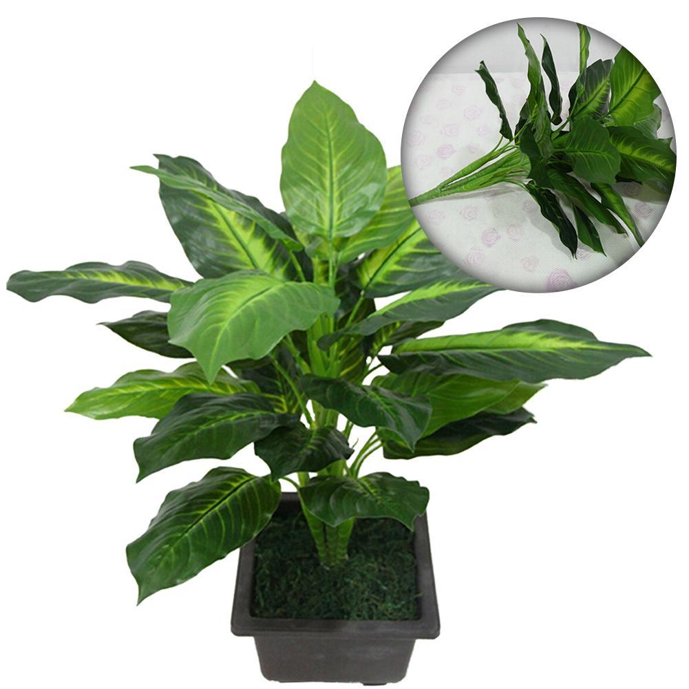 PRO Artificial Potted Plants,Ever Green Indoor Plant,House Bamboo Flower G UKPL