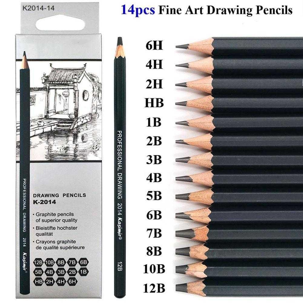 Details about 14pcs art drawing pencil set sketch hb 2h 4h 6h 12b 10b 8b 7b 6b 5b 4b 3b 2b 1b