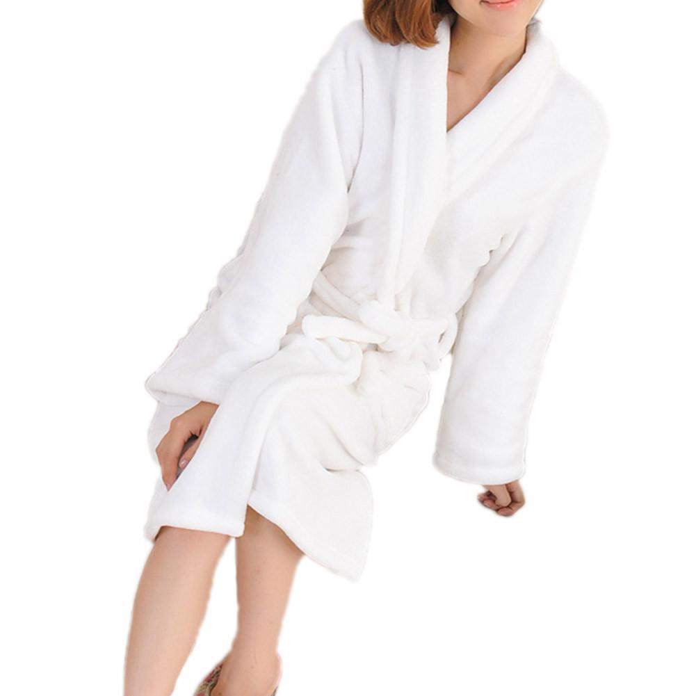 bb41ce6275 Couple Models Bathrobe Thick Coral Velvet Dressing Gown Men And Women  Long-sleeved Pajamas