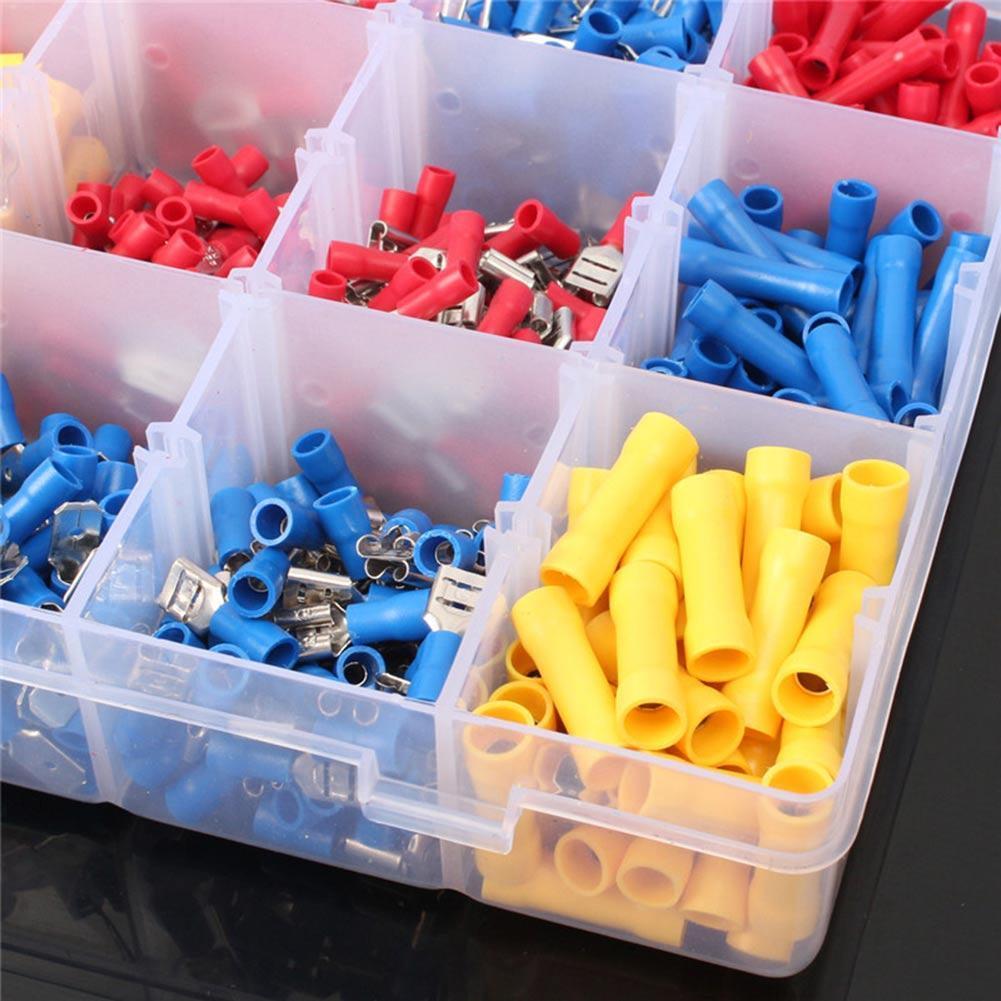 1200PCS Kabelschuhe Quetschverbinder Sortiment Steckverbinder Flachstecke Nice