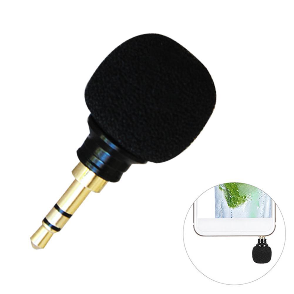 1x Mini 3.5mm Clip Mikrofon Lavalier Revers Microphone Für Smartphone PC Laptop