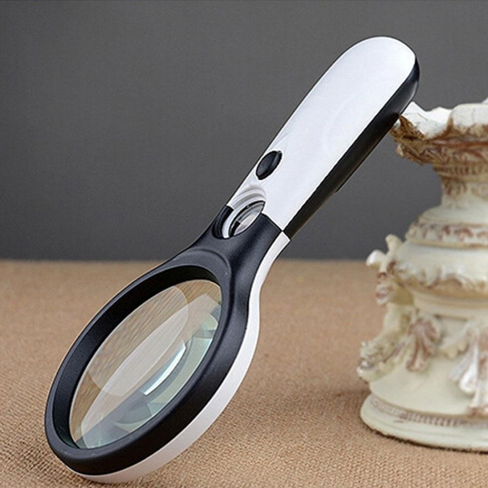 led 45x licht handlupe lupe glaslinse schmuck lupe f r. Black Bedroom Furniture Sets. Home Design Ideas