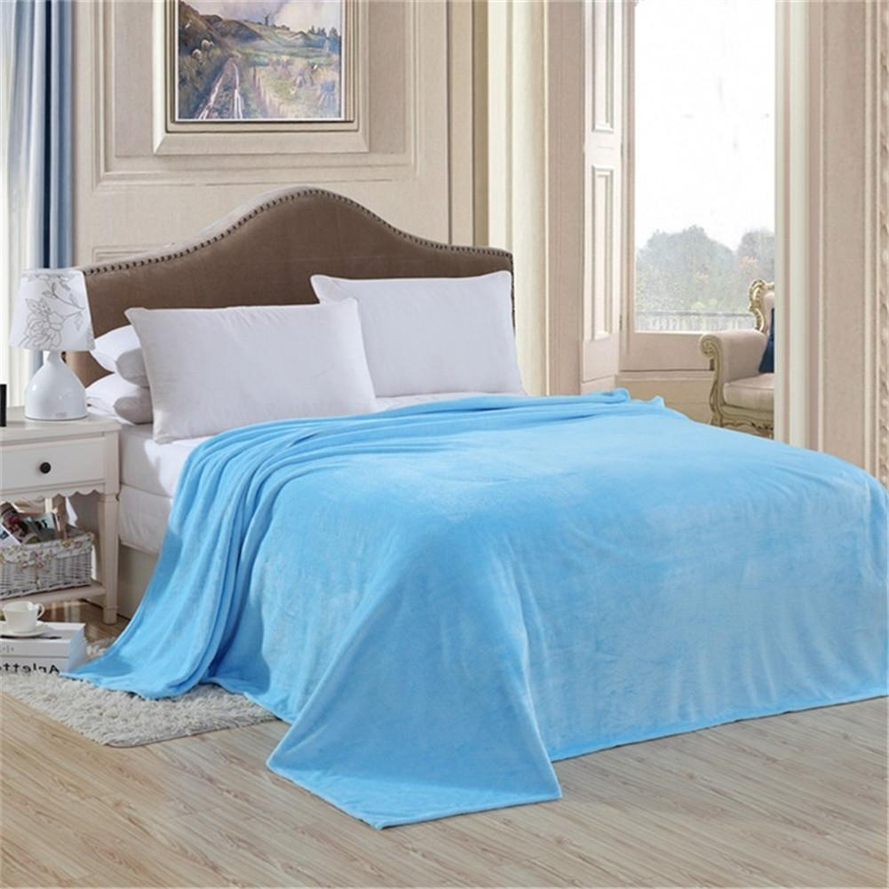 Flannel sheetsquilt on the bed fabric super soft fashion brand bedclothes  cobertor coral fleece blanket - Shop @ ezbuy Singapore
