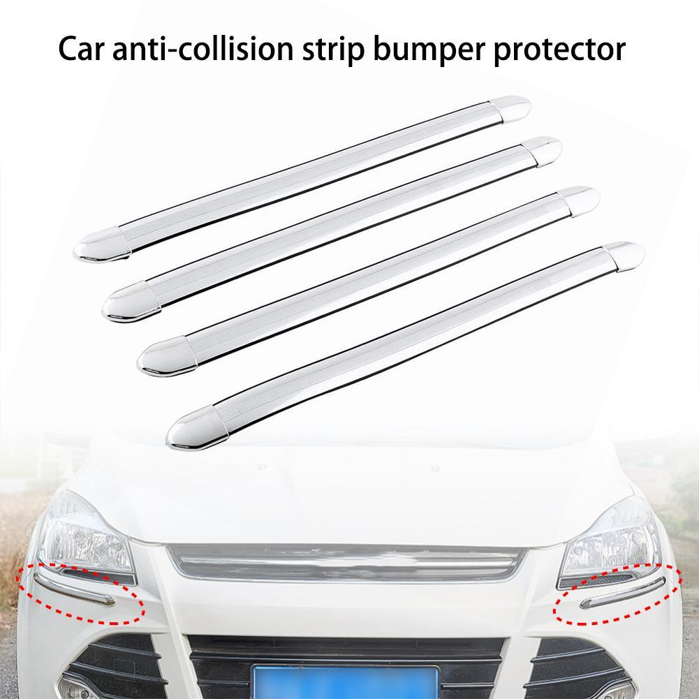 4x Auto Zierleiste Gummi Stoßstangen Kratzschutz Streifen Stoßstangenschutz G2P6
