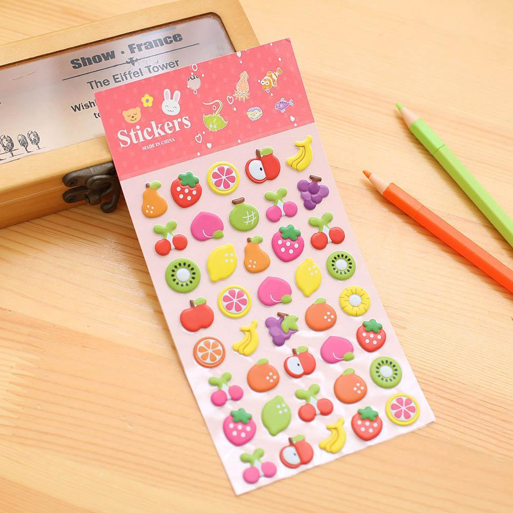 10pcs Cartoon Little Pony English Alphabet Numbers Bubble Stickers Phone Album Decoration Sticker Children Stationery Stickers Office & School Supplies