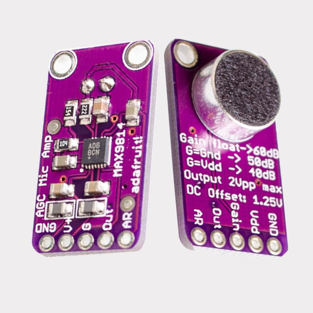 Max9814 Electret Microphone Amplifier Module Agc Auto Gain Control Max4466 With Adjustable For Arduino Preview