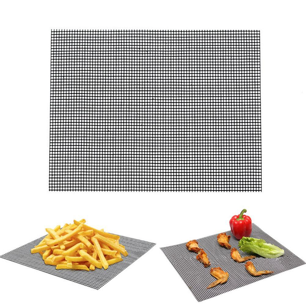 Grillmatte BBQ Matte Grillgitter Unterlage Backmatte NON Stick Teflon-Antih H9D4