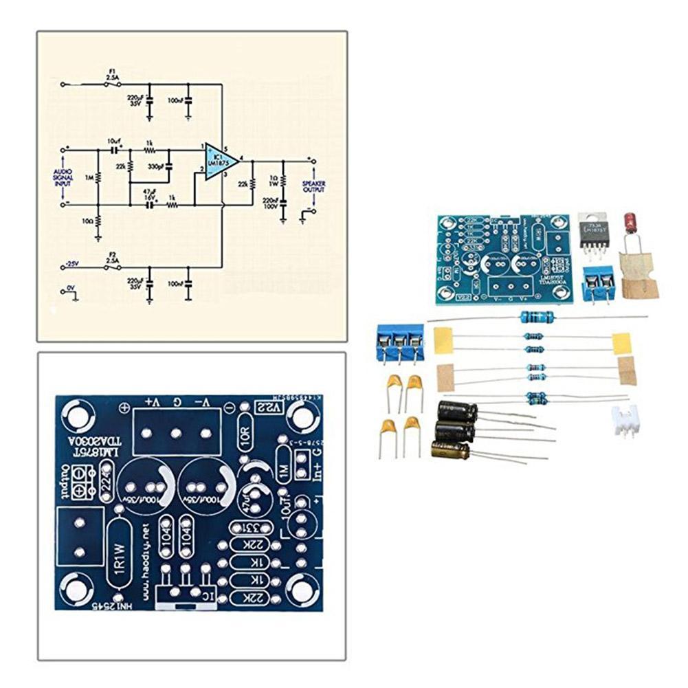 Handmade 20w New Stereo Audio Hifi Amplifier Module Lm1875t Mono 23w Dual Power Circuit Preview