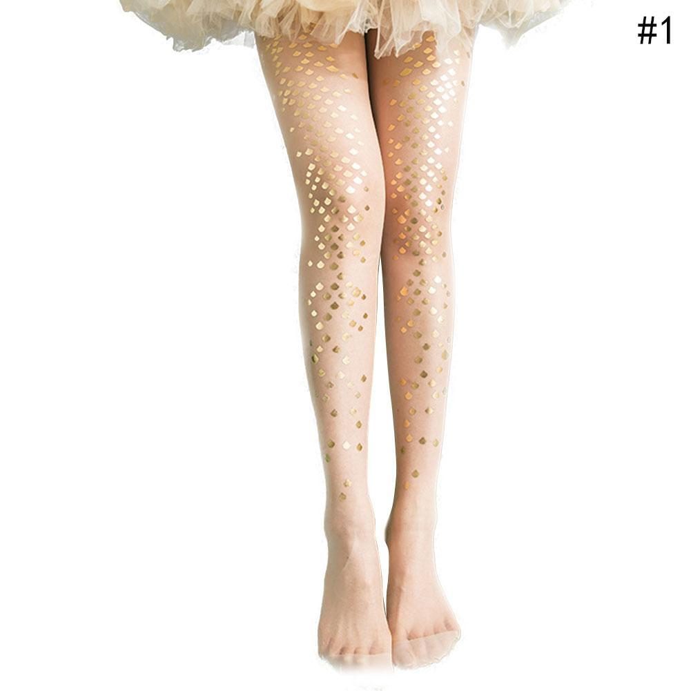 af411c463 Women Mermaid Elastic Lowest Price Stockings Printed 2019 Tattoo Fish Scale Tights  Pantyhose