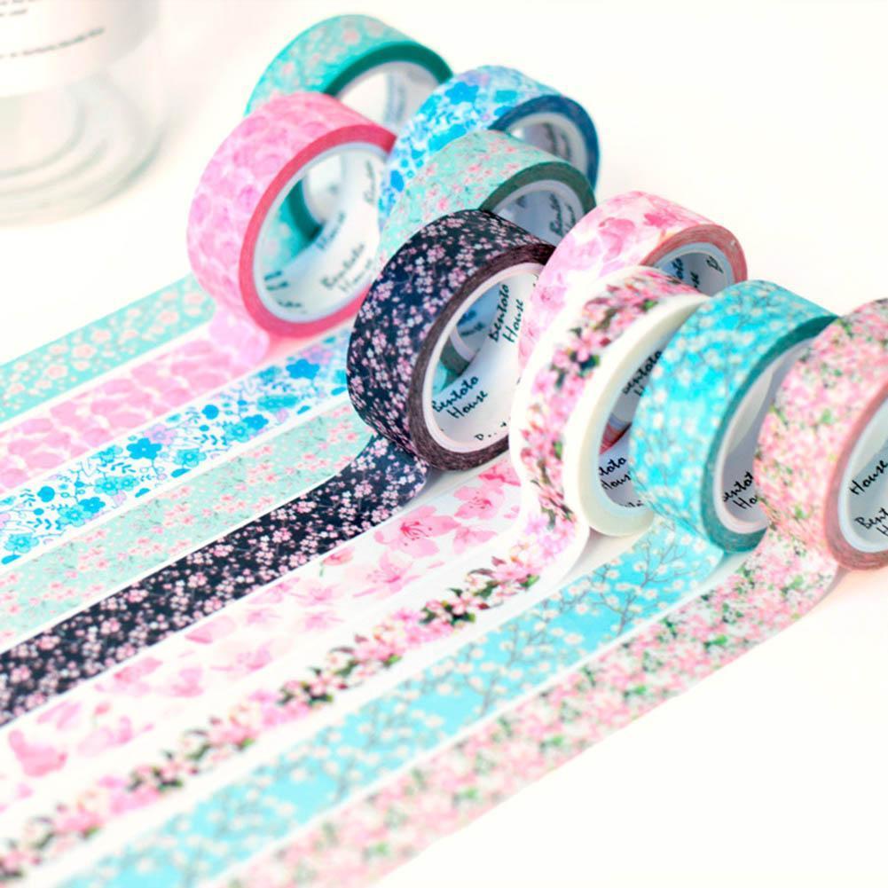 1x  Glitter Washi Masking Tape Basteln Klebeband Papierband Reispapier-Deko