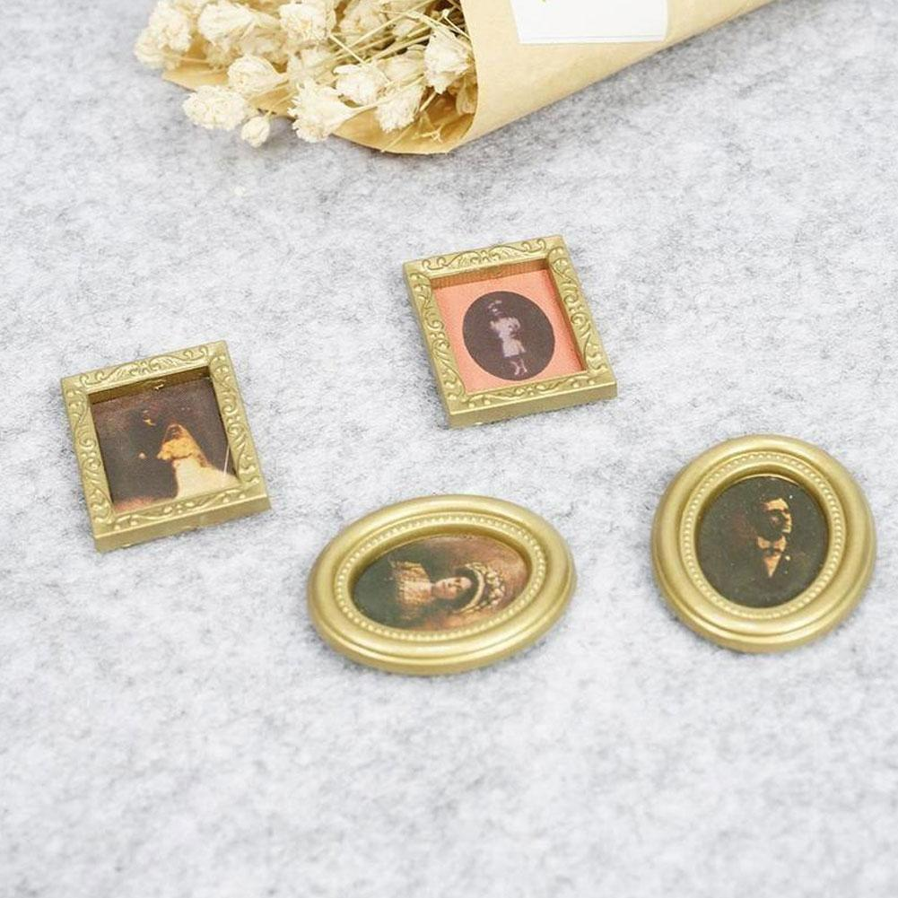 New 1:12 Dollhouse Miniature Framed Wall Painting Home Items DECO Room Deco M4L3