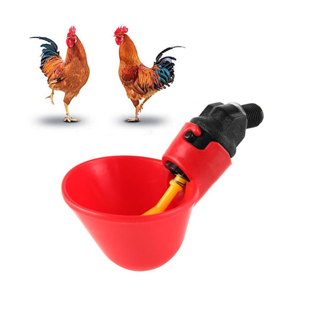 10 Pcs Bird Coop Auto Feed Poultry Water Drinking Cups Chicken Fowl Drinker JKP