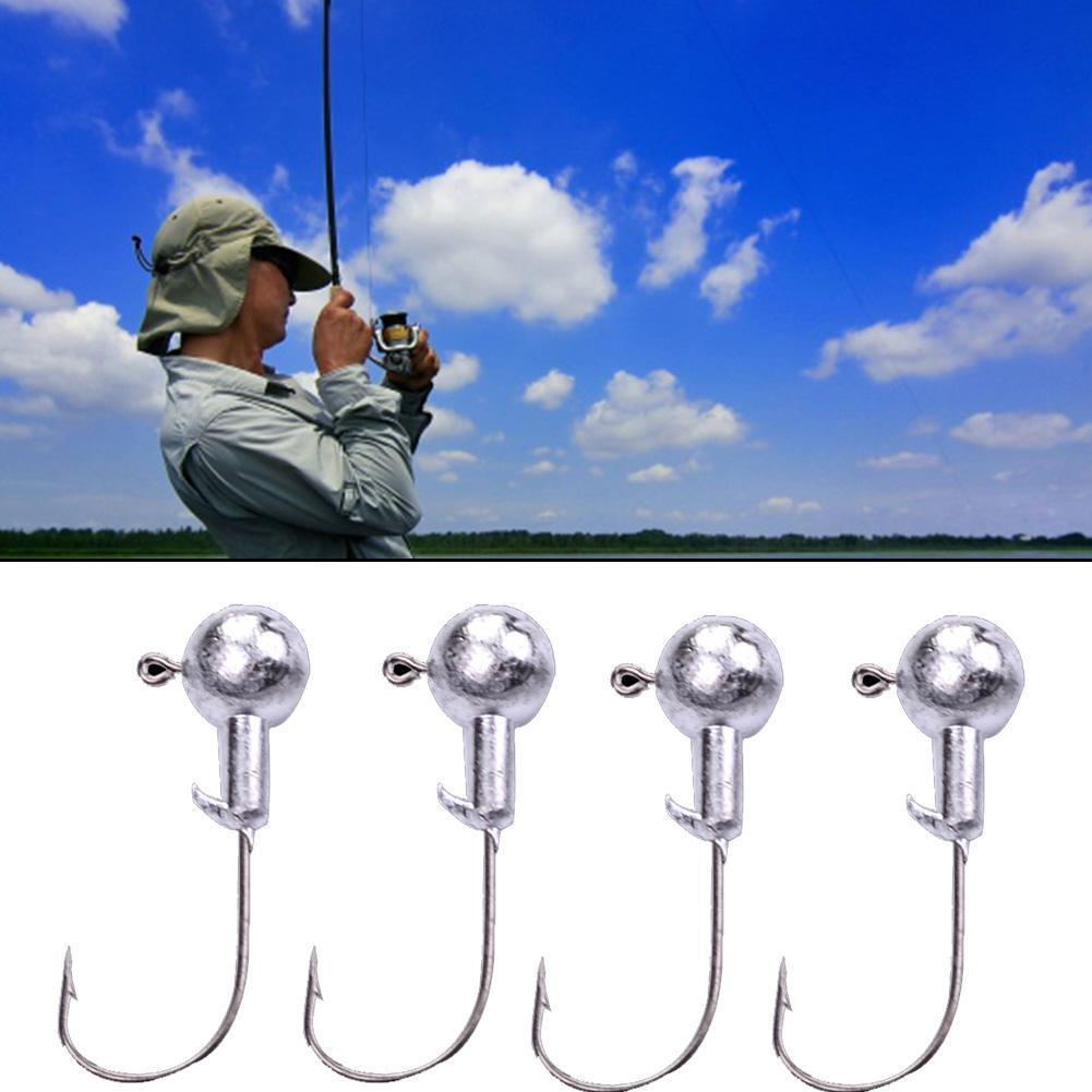 20pcs lot Jig Large Hook 2g weight Fishing Hook Natural color Fishing Hook