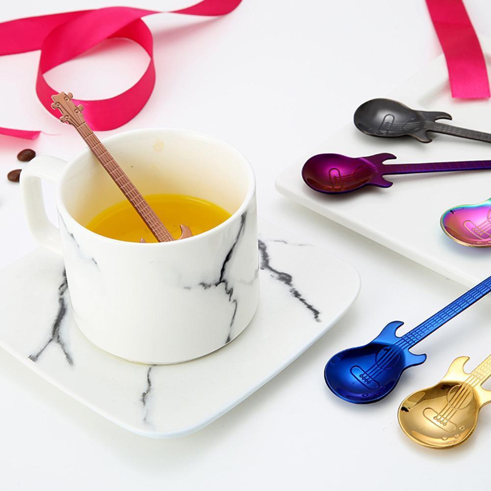 1PC Cartoon Silber Katze Edelstahl Tee Kaffee Löffel Eiscreme Besteck Geschirr