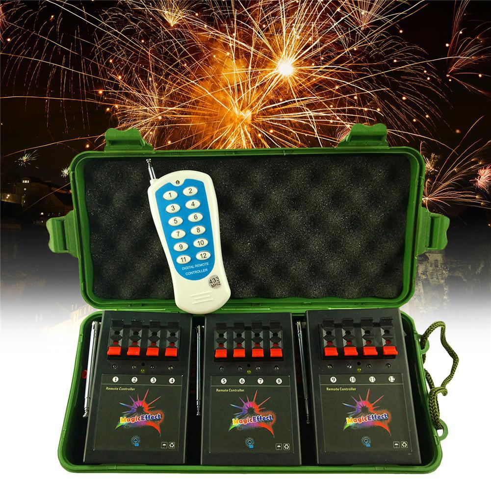 Wireless Electronic 4-Way Firework System Igniter With Remote Range 150 Meters