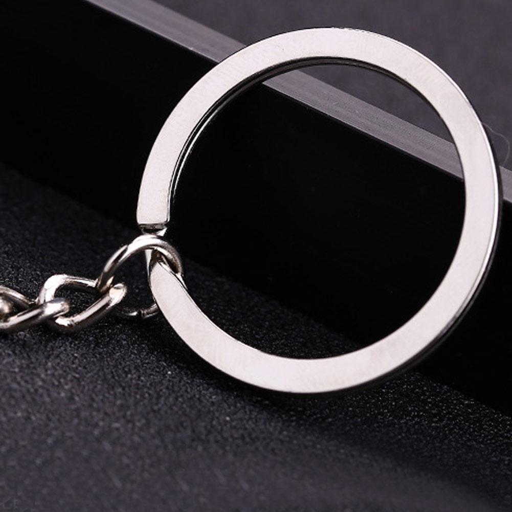10Pcs Schlüsselring Rohlinge Silber Ton Schlüsselanhänger/_Schlüsselanhänger A1M8