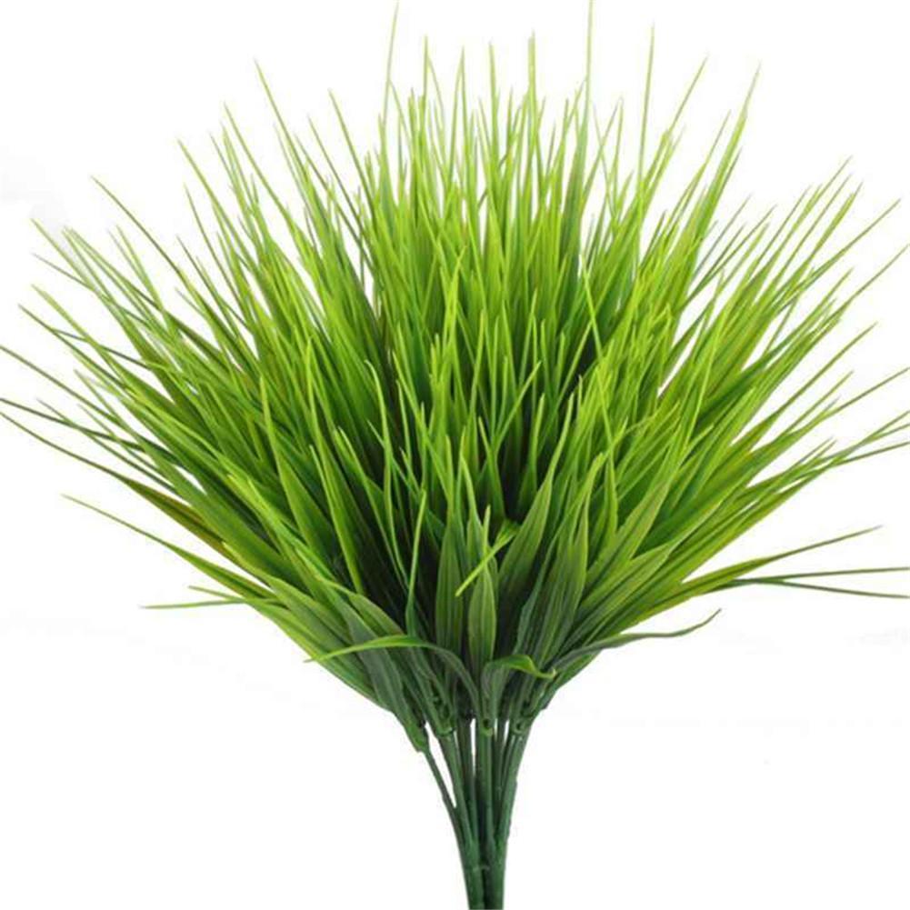 Künstliche Pflanzen im Freien Fake Plastic Greenery Sträucher Wheatgrass D3J7