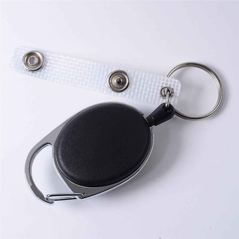 伸縮鑰匙扣 帶背夾易拉扣鑰匙環 防丟防盜鑰匙繩扣 戶外登山扣