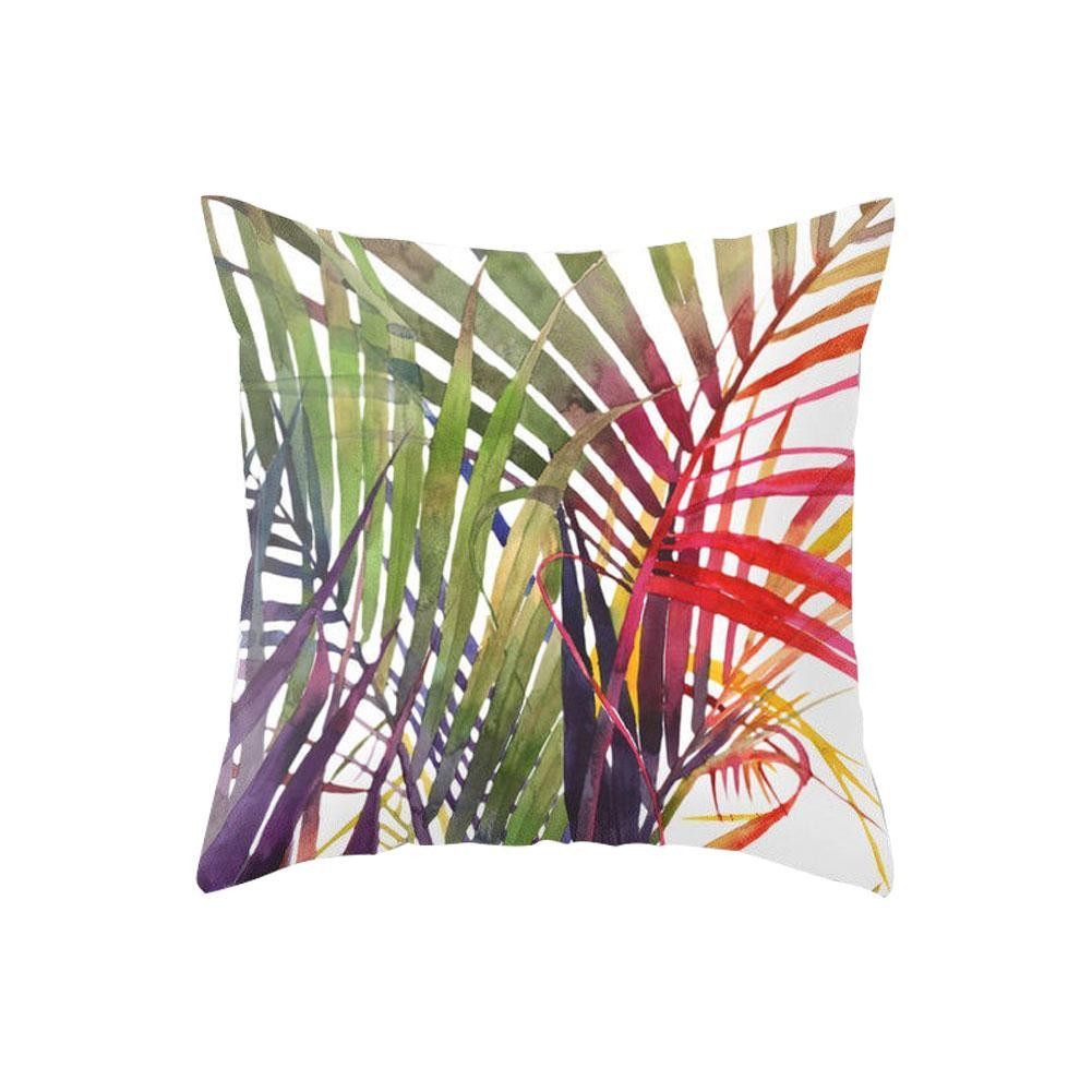 Tropical Plant Leaves Flower Throw Cushion Cover Pillow