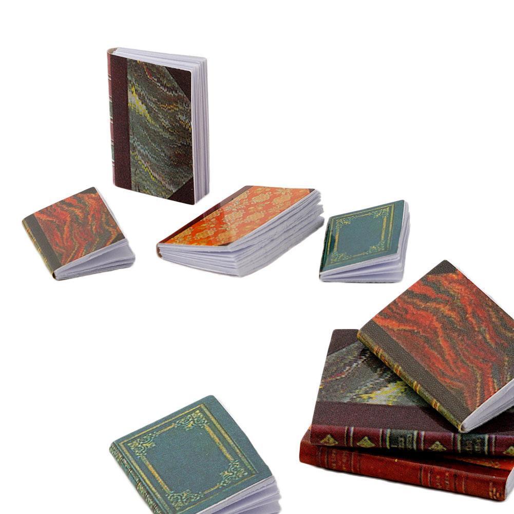 4 Pcs 1//12 Dollhouse Miniature Accessories Mini Books Simulation Notebook/_Models